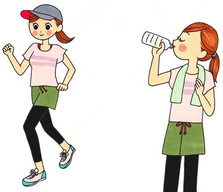 運動中の飲み物